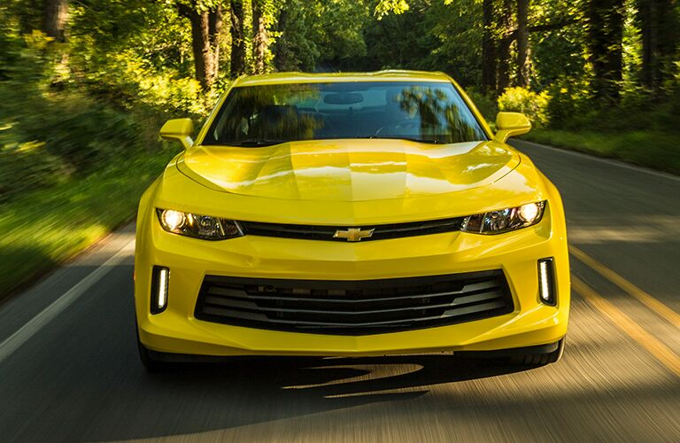 2018 Chevrolet Camaro driving on road.