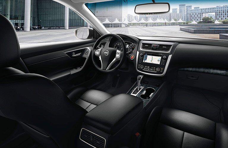 2017 Nissan Altima Black interior Front Cabin