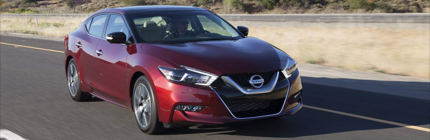 2017 Nissan Maxima Red Exterior Front View