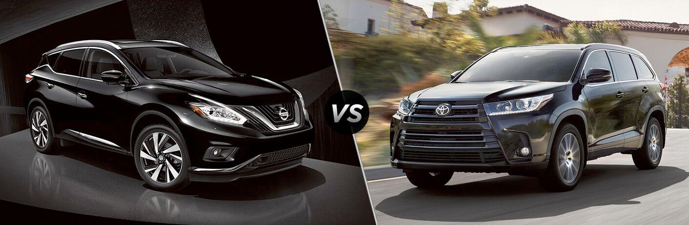 2018 Nissan Murano vs 2018 Toyota Highlander