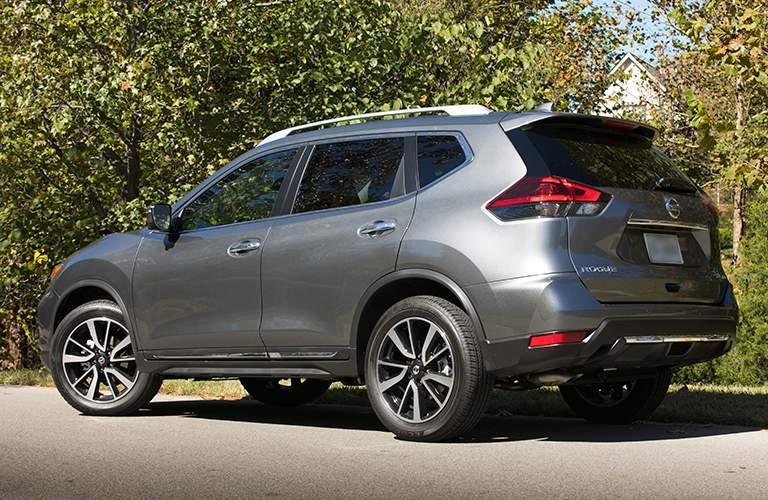 2018 Nissan Rogue Rear View of Gray Exterior