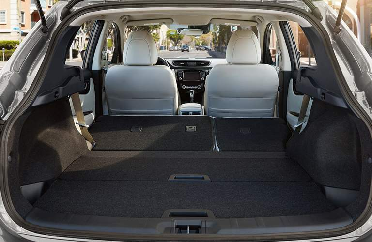 Interior cargo Space of the 2018 Nissan Rogue Sport with the second row folded down