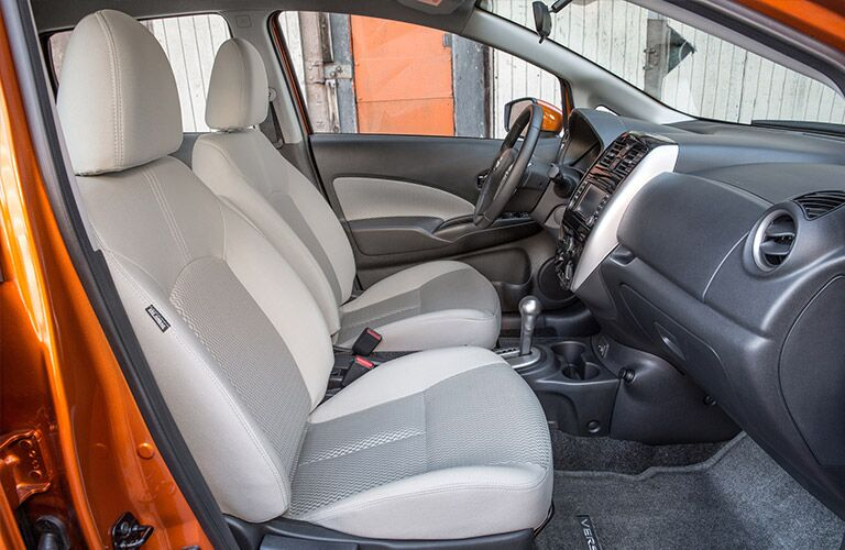 Nissan Versa seats showing front seat space