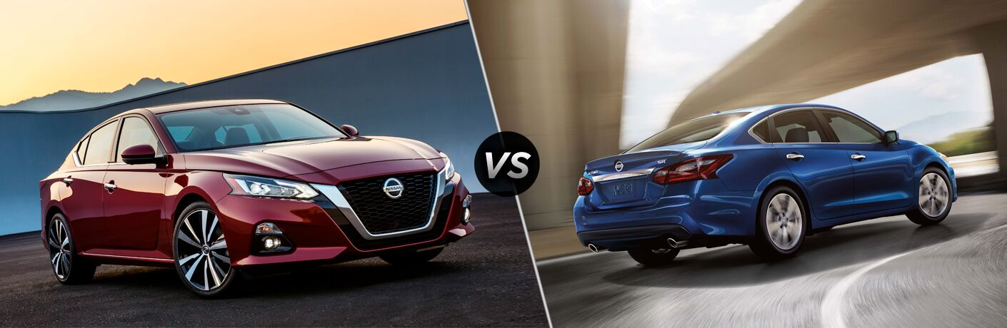 2019 Nissan Altima in red paint vs 2018 Nissan Altima in blue paint