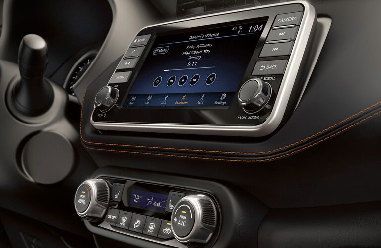Close up of the display in the 2019 Nissan Kicks