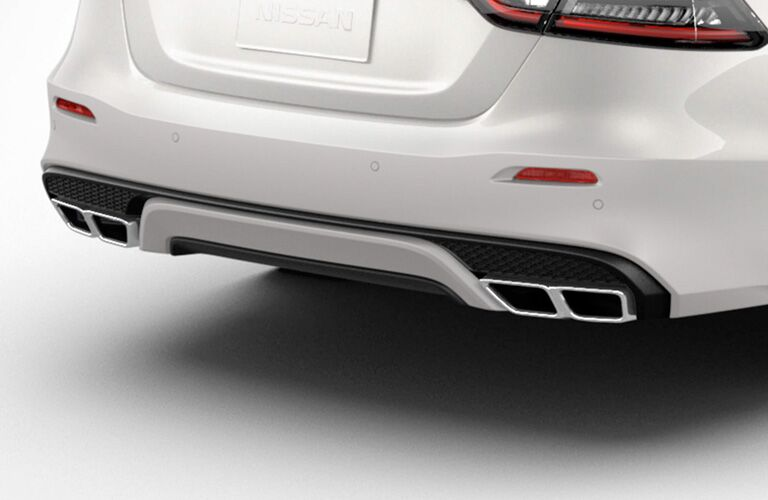 2019 Nissan Maxima Rear Bumper in White