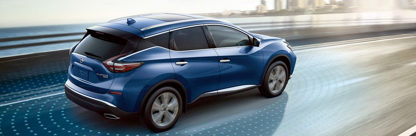 2019 Nissan Murano Side View of Blue Exterior