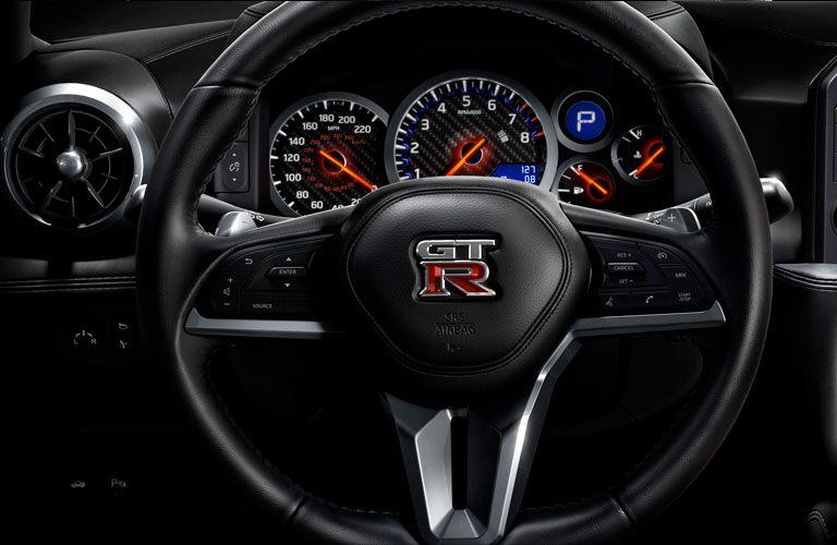 2020 nissan gt-r steering wheel in instrument cluster