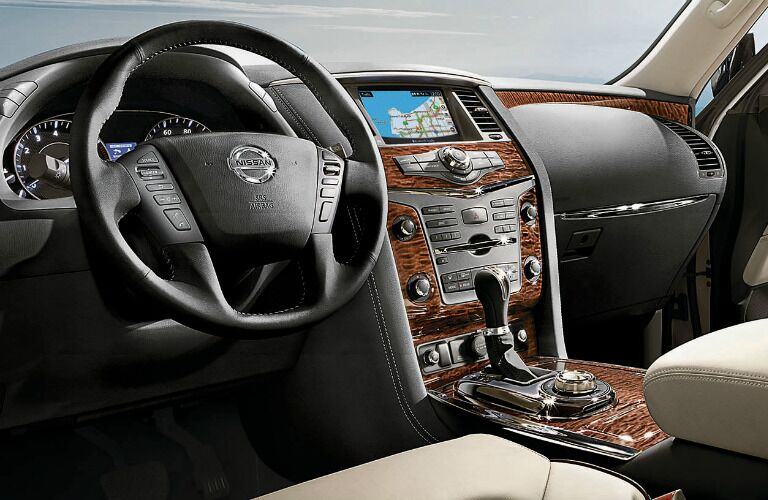 2020 Nissan Armada dash and infotainment showcase