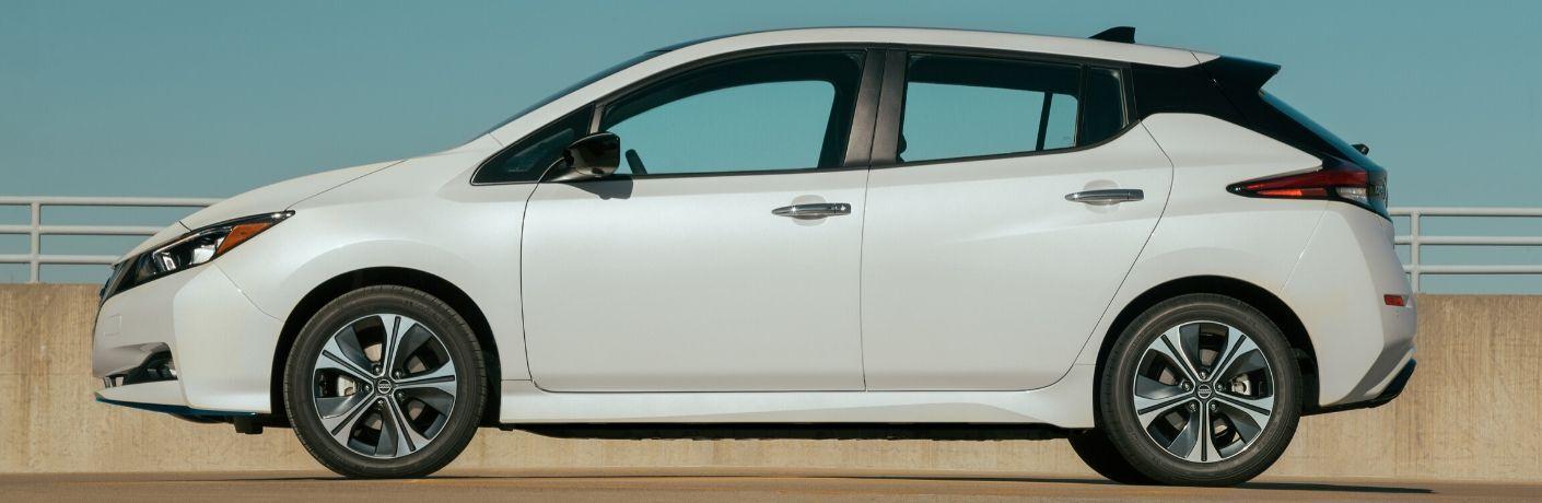 2020 Nissan Leaf from exterior passenger side