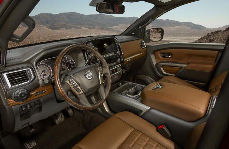 2020 Nissan TITAN Platinum reserve front seats