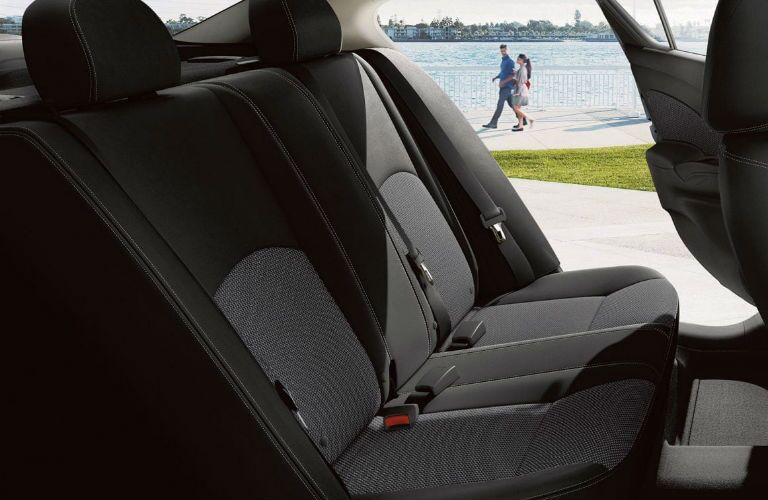 A photo of the rear seats in the 2019 Nissan Versa.