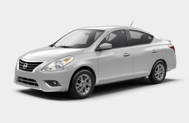 A left profile photo of the 2019 Nissan Versa SV Special Edition.
