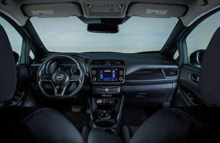 Interior of 2020 Nissan Leaf