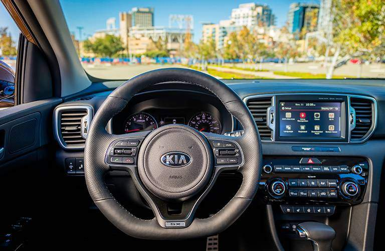 2017 Kia Sportage steering wheel