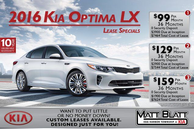2016 Kia Optima LX Lease Specials