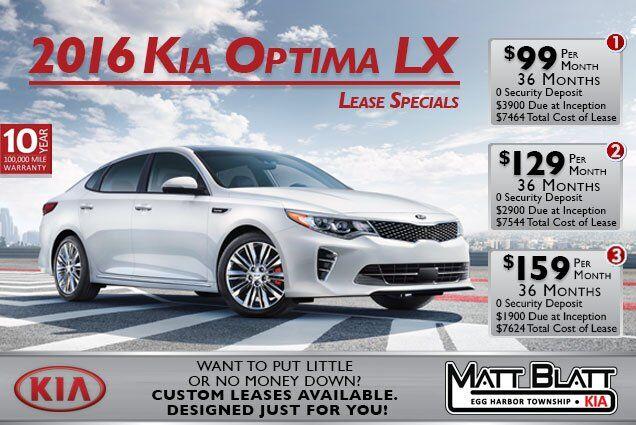 2016 Kia Optima Lease Offer