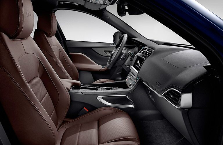 luxurious front seats of the 2018 Jaguar F-PACE