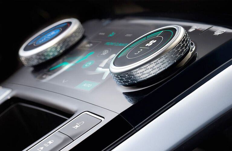 Gear knobs of 2019 jaguar I-PACE