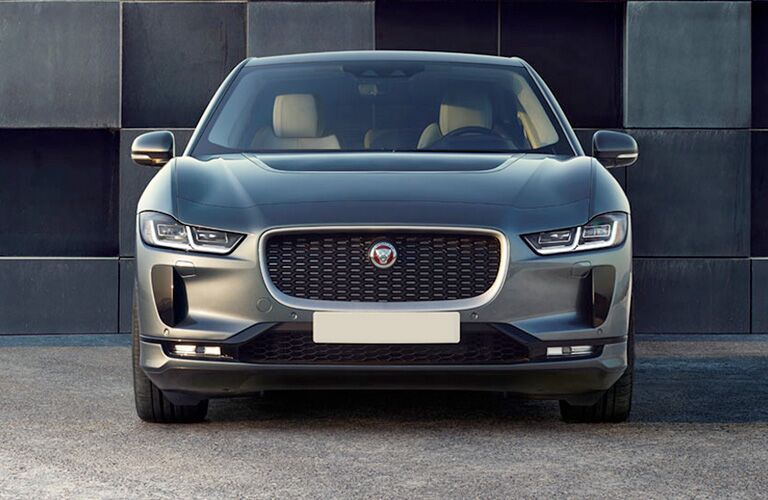 Front grille and headlights of 2019 Jaguar I-PACE