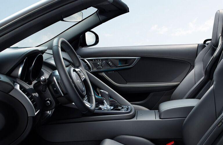Steering wheel and gear shifter of 2019 Jaguar F-TYPE