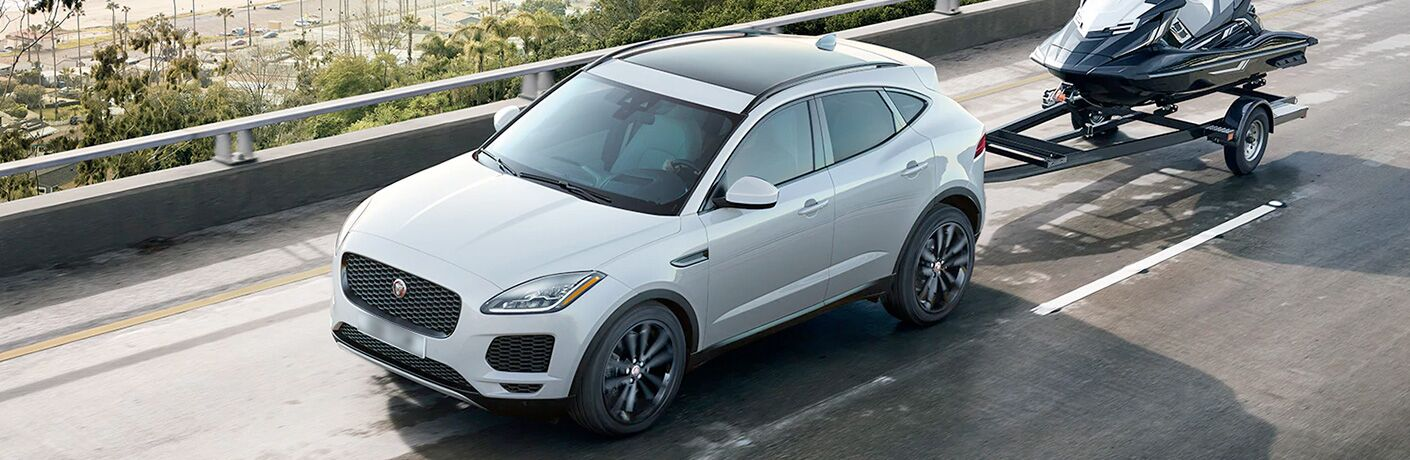 2020 Jaguar E-Pace on bridge