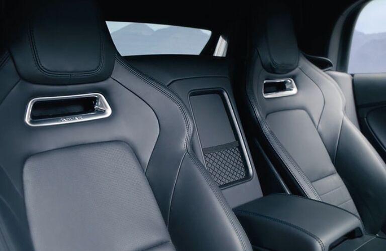 Interior view of the black seating inside a 2020 Jaguar F-TYPE