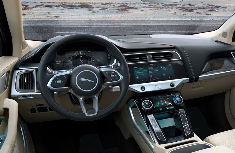 front interior of the 2020 Jaguar I-Pace
