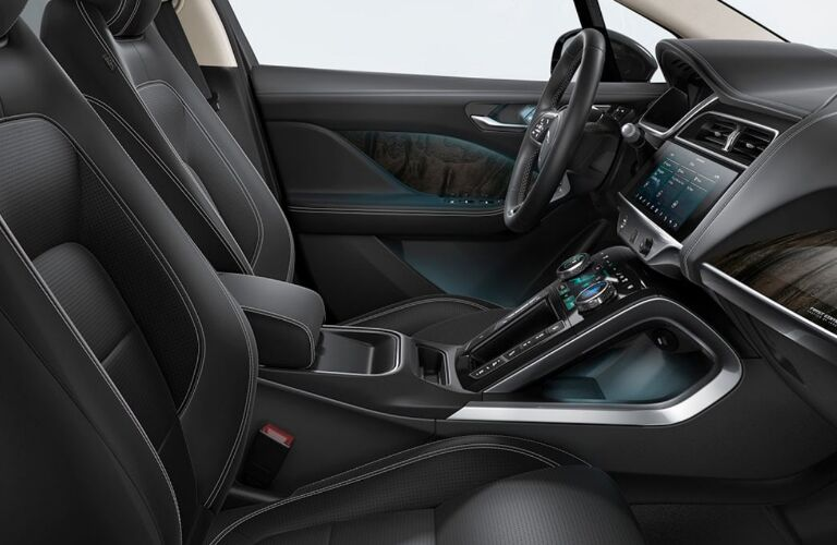 Grey dashboard and front seats in 2020 Jaguar I-PACE