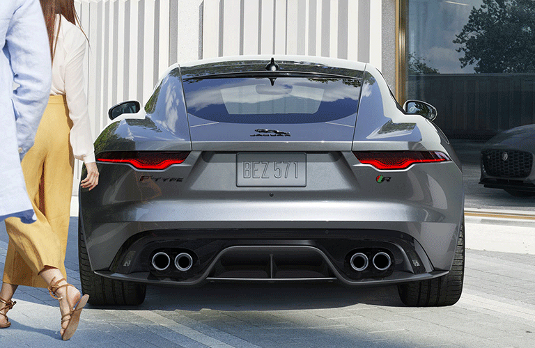 2021 Jaguar F-Type from behind