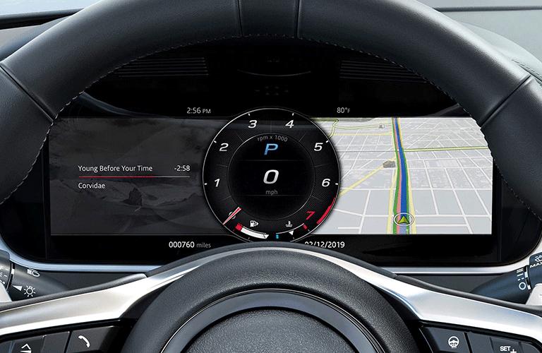 2021 Jaguar F-Type digital gauge cluster
