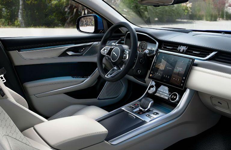 Interior view of 2021 Jaguar XF