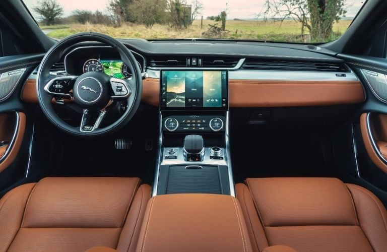 2021 Jaguar XF dashboard and center console