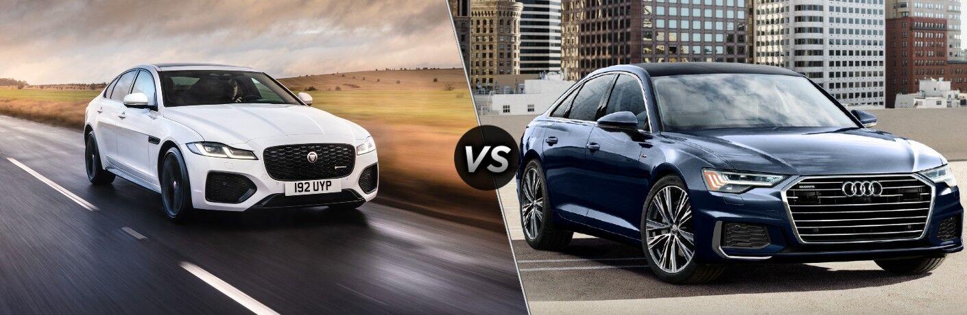 2021 Jaguar XF vs 2021 Audi A6 comparison