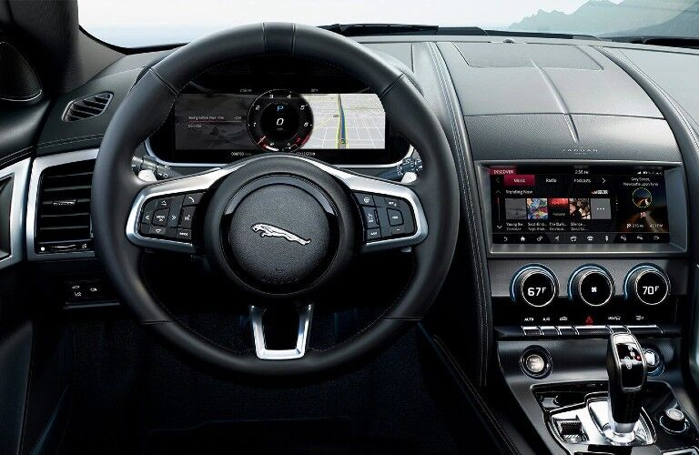 2021 jaguar f-type interior steering wheel
