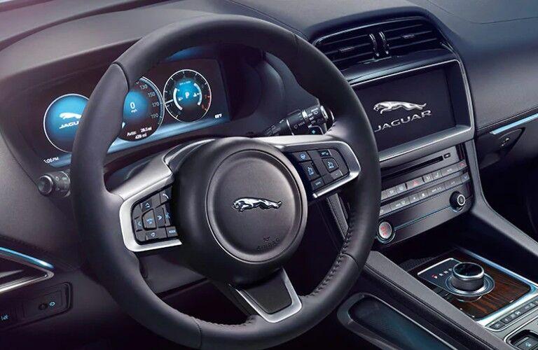 2021 Jaguar F-Pace Interior view steering wheel