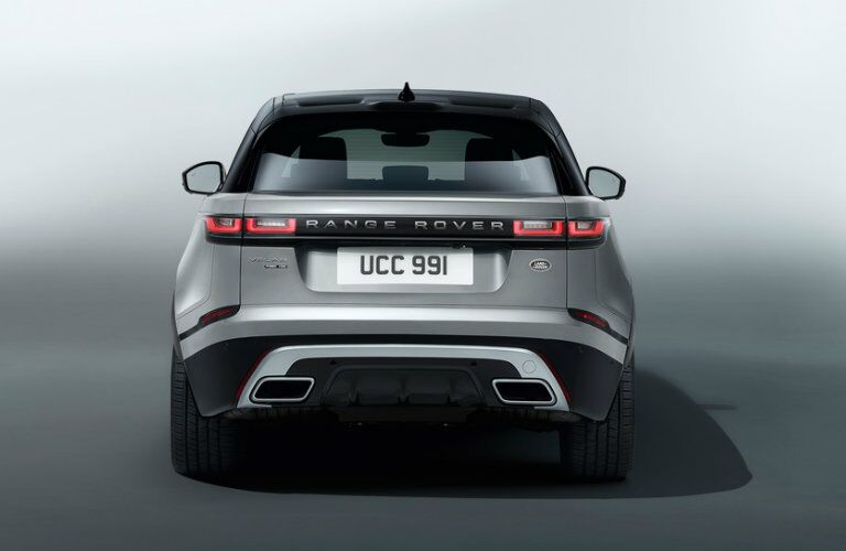 2018 land rover range rover velar rear view parked