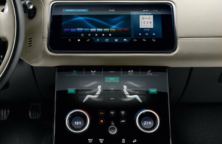 2018 land rover range rover velar dashboard detail closeup