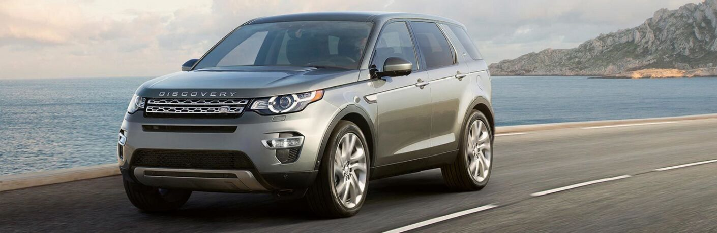 2018 land rover discovery sport driving near water