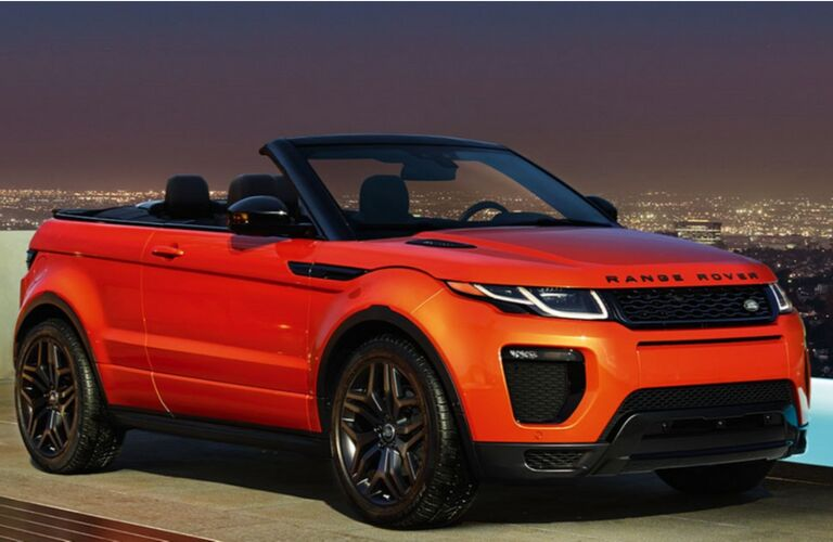 2018 land rover range rover evoque convertible model parked