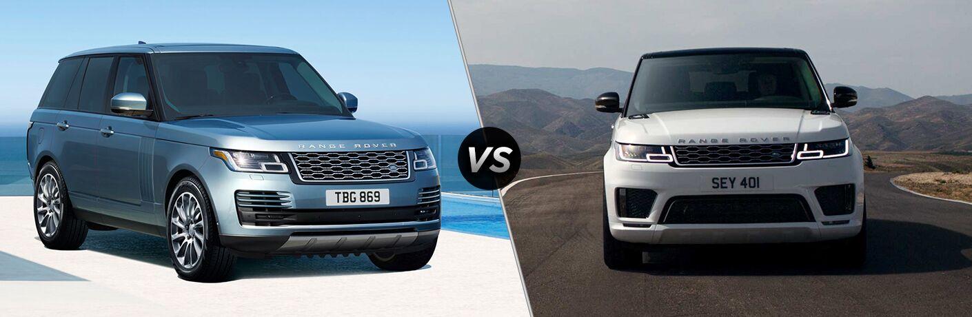2019 Land Rover Range Rover PHEV vs 2019 Land Rover Range Rover Sport PHEV side by side