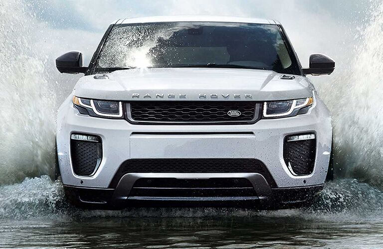 2019 Land Rover Range Rover Evoque driving through water