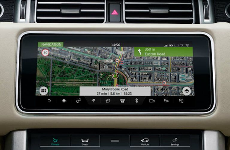 Navigation touchscreen of 2019 Land Rover Range Rover PHEV