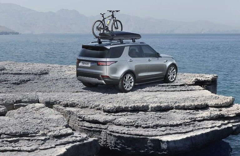 2020 Land Rover Discovery on a cliff