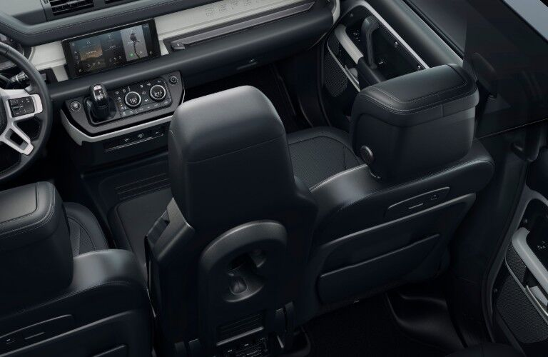 interior of 2020 Land Rover Defender