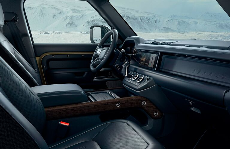 2021 Land Rover Defender front seats side view