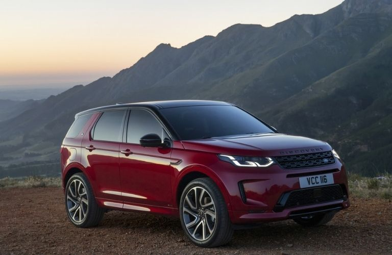 2021 Land Rover Discovery Sport on the hillside