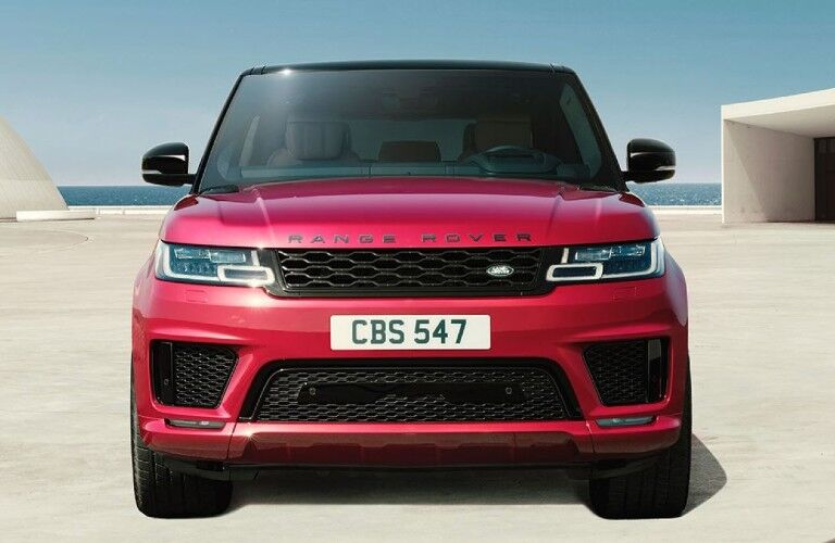 red 2020 Land Rover Range Rover Sport front view