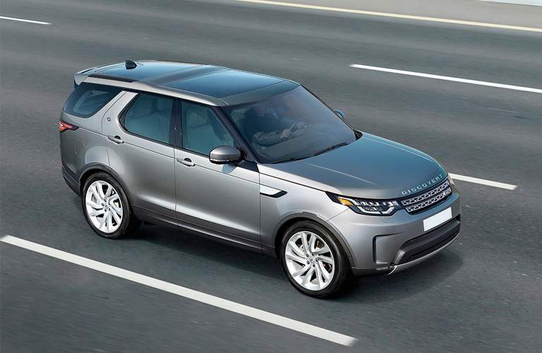 2018 land rover range rover driving on highway