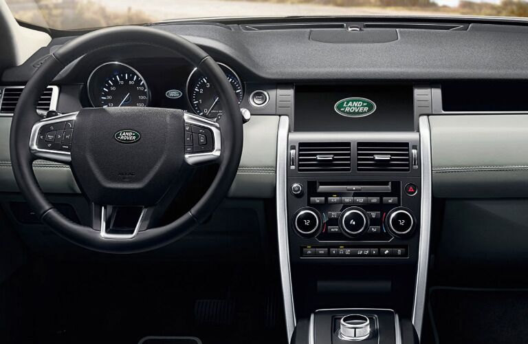 2018 Land Rover Discovery Sport interior steering wheel and dash